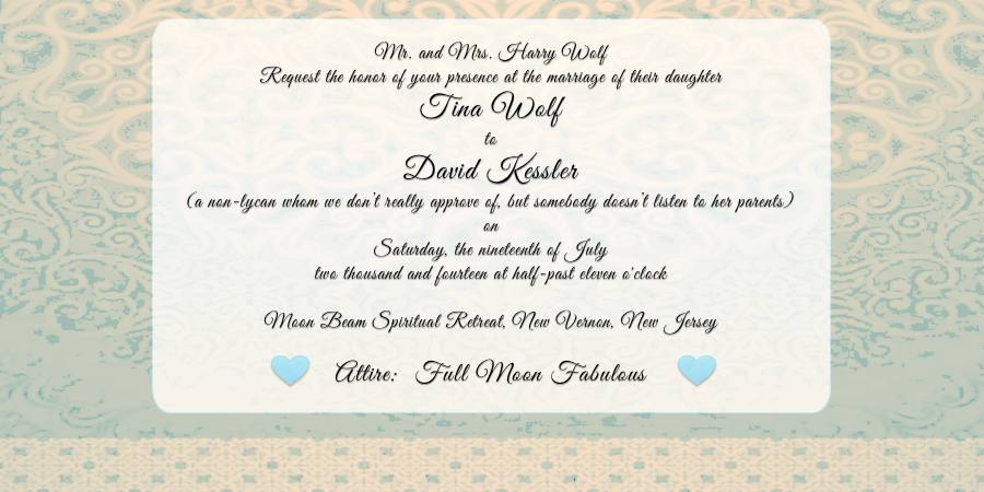 Guests Mystified By Quirky Werewolf Wedding Dress Codes